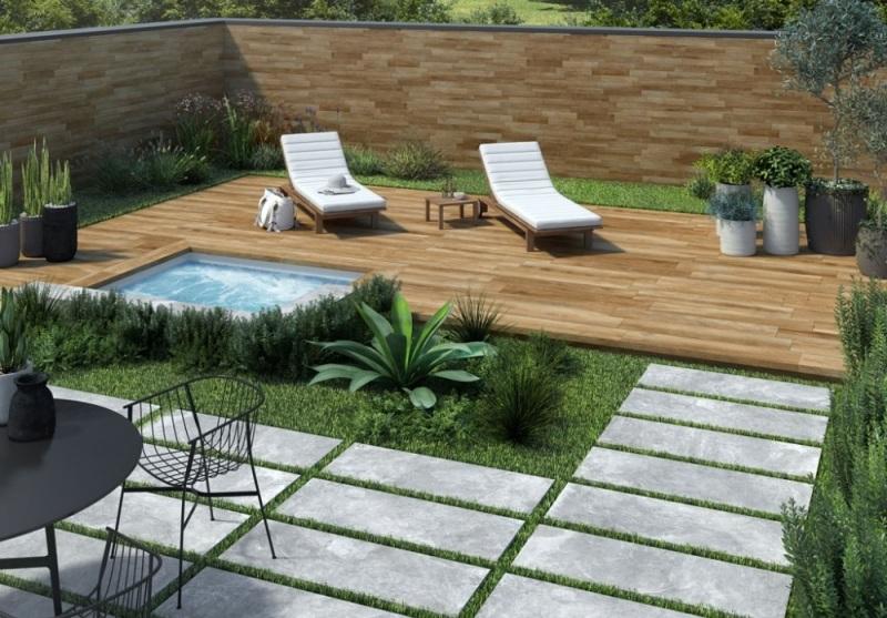 Dalles piscine terrasse Rhone